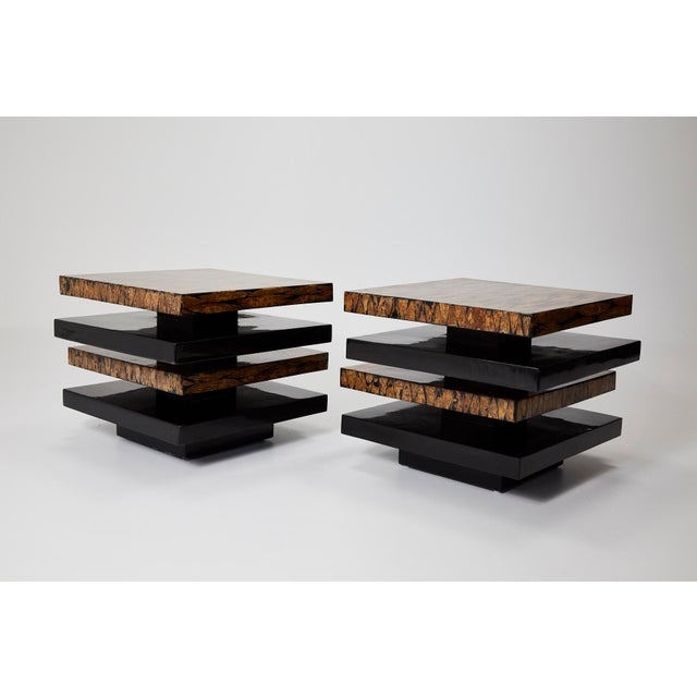 Asian 1990s Contemporary Stacked 2-Part Coffee Table For Sale - Image 3 of 11