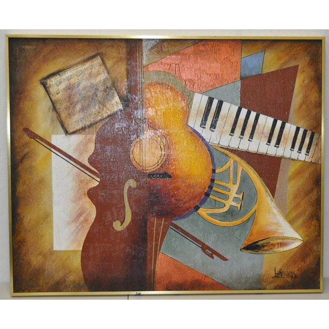 "Lee Reynolds Vintage ""Music"" Painting C.1960s - Image 2 of 7"