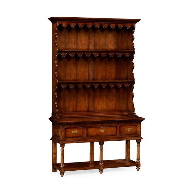 Small Walnut Display Cabinet - Image 1 of 3