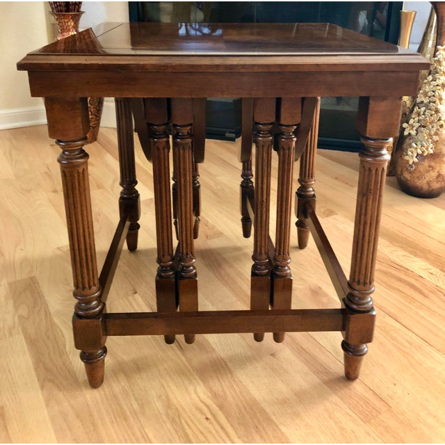 Gordons Inc. Traditional Gordon's Fine Furniture Nest of Tables - Set of 3 For Sale - Image 4 of 13
