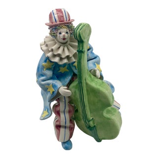 Vintage Italian Gruppo Del Quattro for Gumps Clown Musician Figurine For Sale