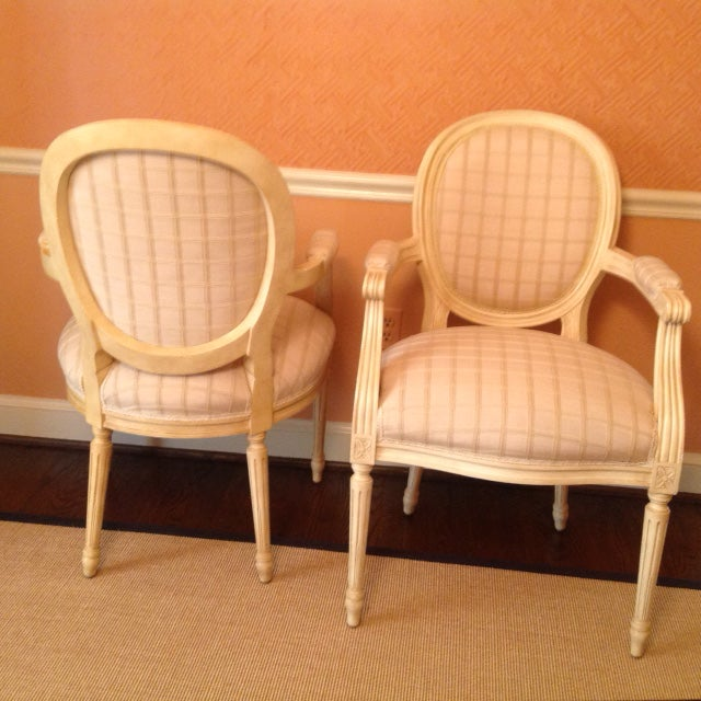 Louis XVI Style Chairs - A Pair - Image 2 of 7