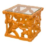 Image of Decorative Resin Side Table For Sale
