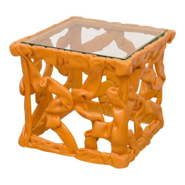 Decorative Resin Side Table For Sale