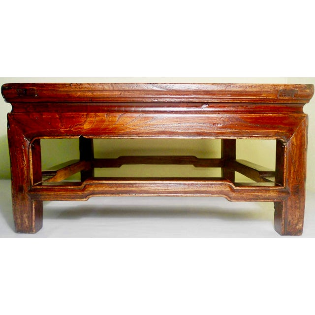 """Elm Antique Elmwood Chinese Ming """"Kang""""/Coffee Table For Sale - Image 7 of 9"""
