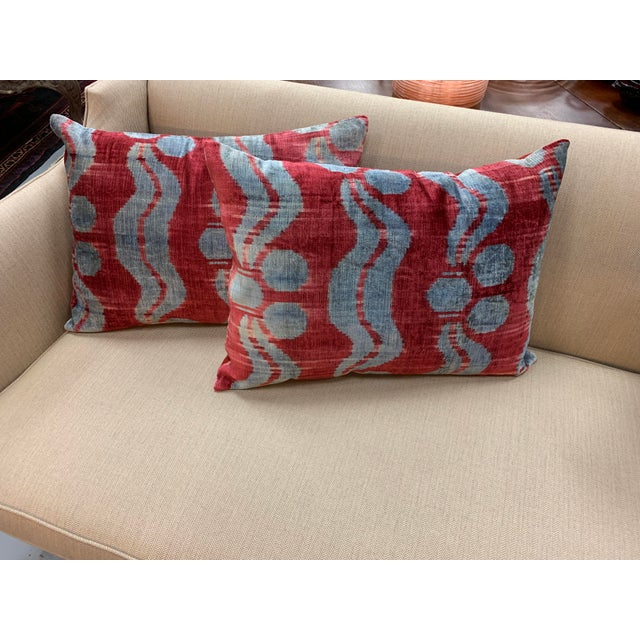 2010s Contemporary Handwoven Cotton Velvet Pillow For Sale - Image 5 of 9