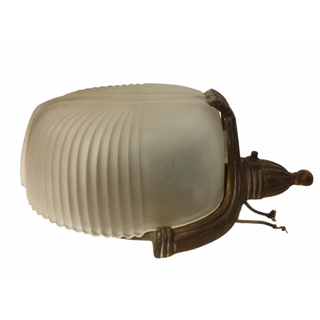 Vintage 1920s Art Deco Wall Sconce For Sale - Image 4 of 9