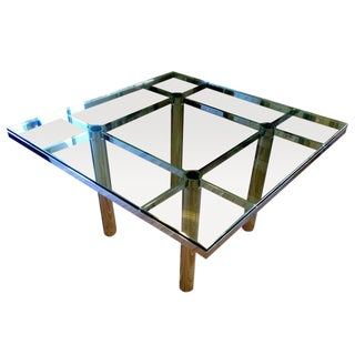 Mid-Century Tobia Scarpa Glass & Chrome Table