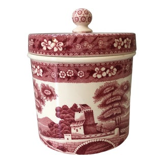 Spode Tower Pink Lidded Candy Jar For Sale
