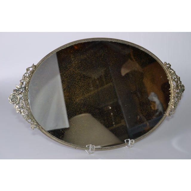 Art Deco Pewter Mirrored Tray - Image 5 of 9