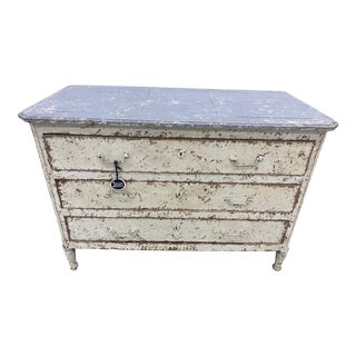 Mid 19th Century French Louis XVI Painted Commode For Sale