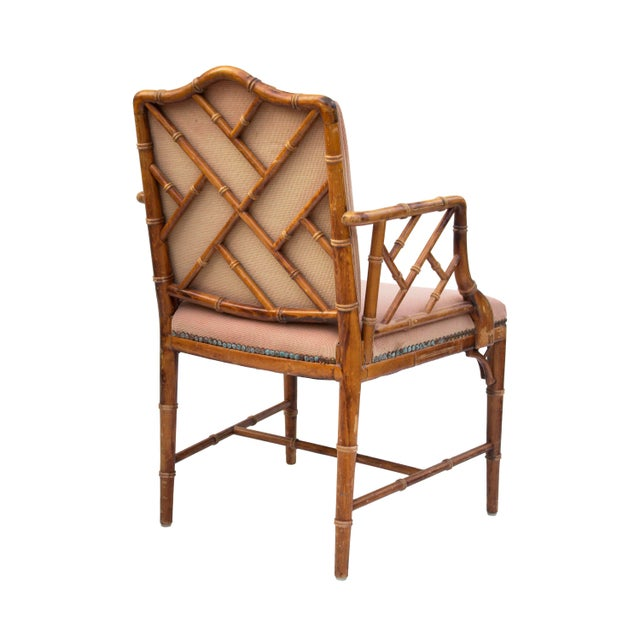 1980s Hollywood Regency Faux Bamboo Dining Chairs, S/4 For Sale - Image 5 of 8