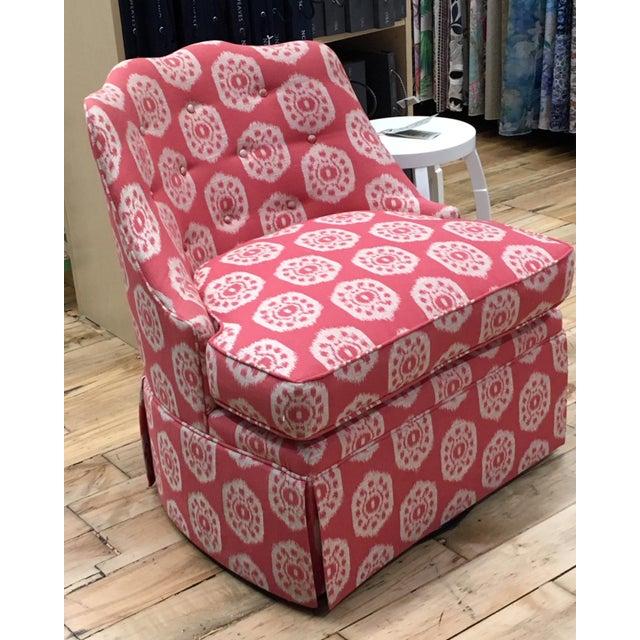Thibaut Brentwood Swivel Chair Showroom Sample For Sale In Saint Louis - Image 6 of 6