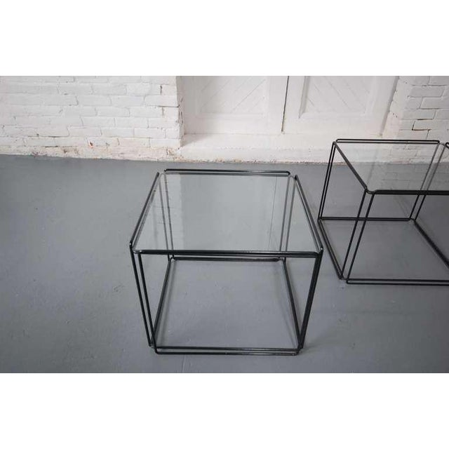 1970s Pair of Minimalist Tables by Max Sauze For Sale - Image 5 of 7