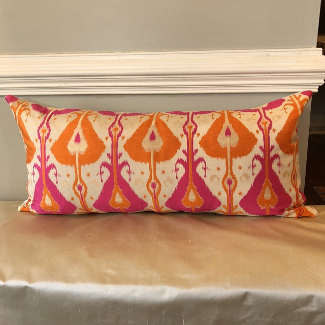 Custom Bright Ikat Pillow - Image 5 of 5