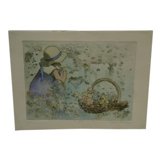 """Limited Edition """"July"""" Signed Numbered (2/150) Print by Ann Lattimore For Sale"""