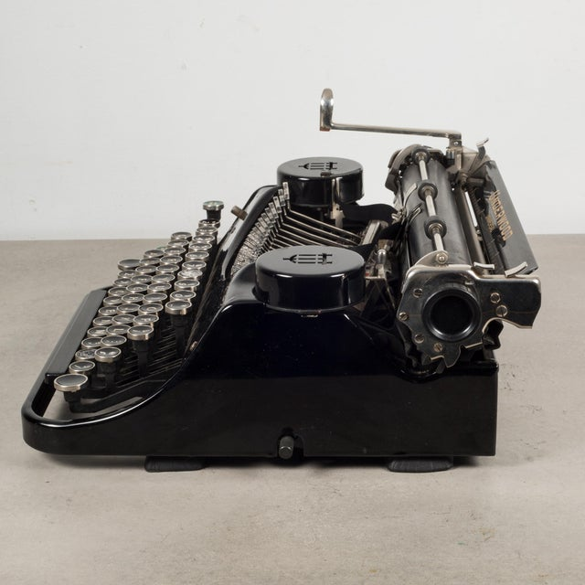 Antique Underwood Universal Portable Four Bank Typewriter C.1935 For Sale - Image 4 of 12