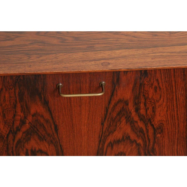 Mid 20th Century Italian Mid Century Wood Bar/Media Cabinet For Sale - Image 5 of 11
