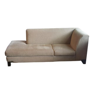 Transitional Daybed Chaise- Modern Khaki For Sale