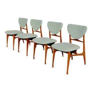 1960s Mid-Century Modern Danish Dining Chairs by John Stuart - Set of 4 For Sale