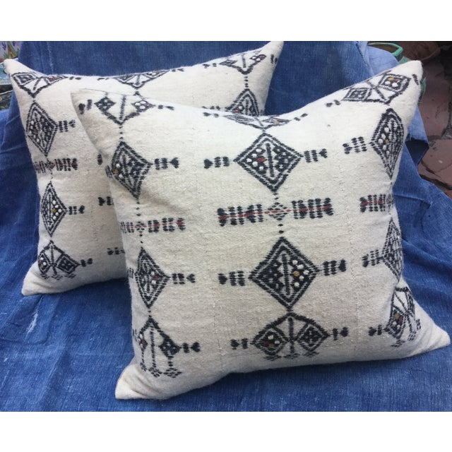 African Fulani Textile Pillows - A Pair - Image 2 of 6