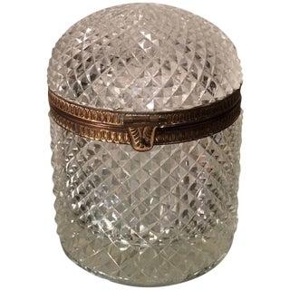 Superb Antique Baccarat Crystal Domed Box