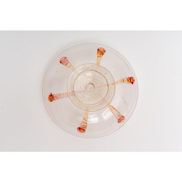 Orange 1930s Barovier E Toso Murano Glass Bonbonniere Candy Dish For Sale - Image 8 of 9