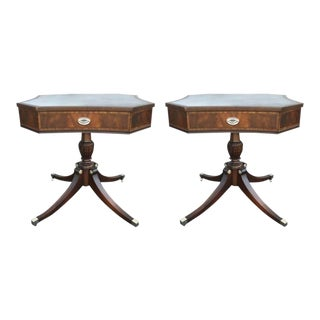 Early 20th Century Curvaceous Octagonal Pedestal Tables - a Pair For Sale