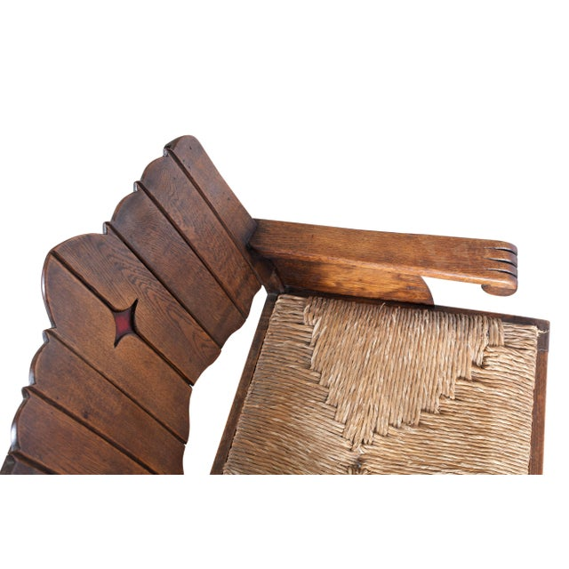 Rattan Sculptural Arts & Crafts Lounge Chair For Sale - Image 7 of 9