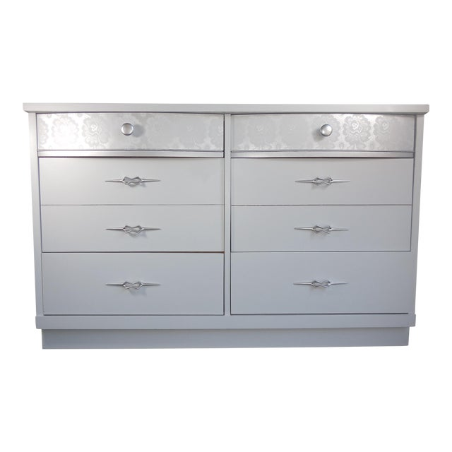 White Mid-Century Modern Dresser - Image 1 of 8