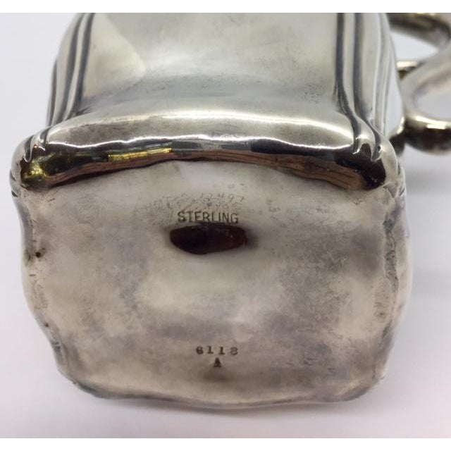 Late 19th Century Antique Sterling Silver Pitcher For Sale - Image 4 of 9
