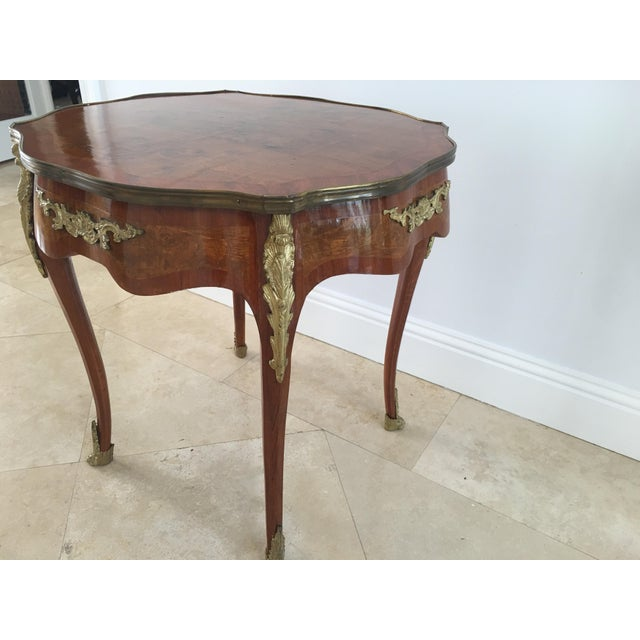 Expressionism 1940s French Louis XVI Cherrywood Table For Sale - Image 3 of 8