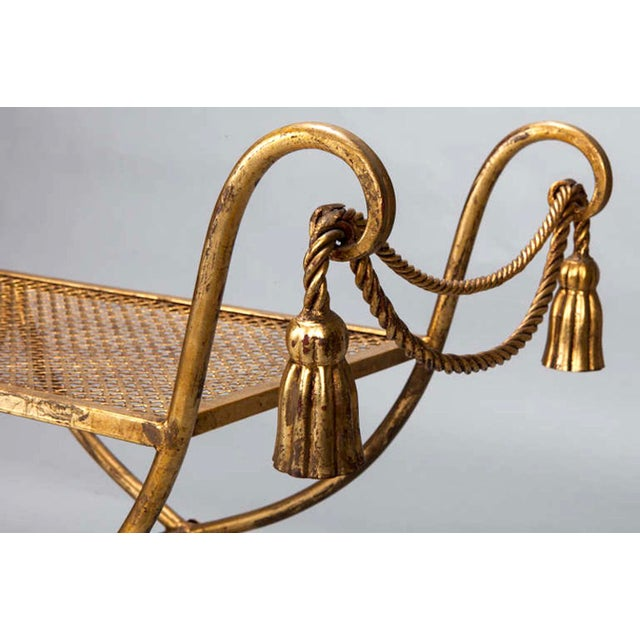 Mid-Century Gilt Metal Neoclassical Bench - Image 8 of 8