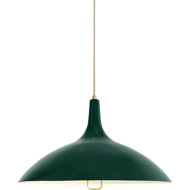 Paavo Tynell '1965' Pendant Lamp in Green For Sale