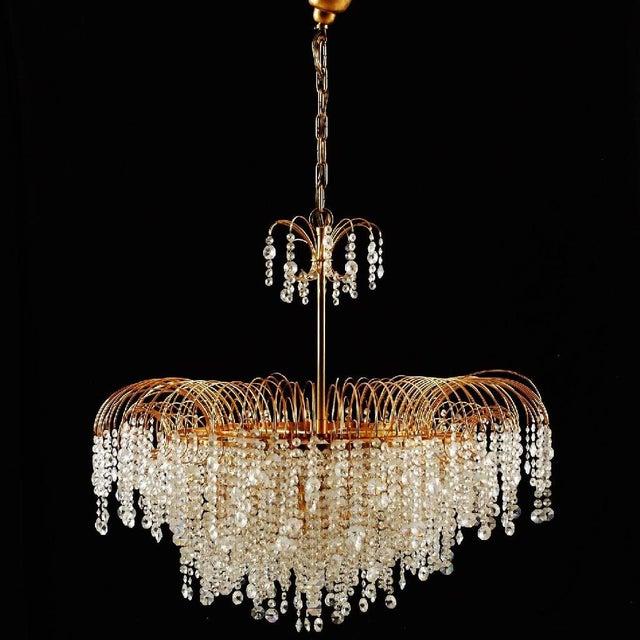 Swedish Vintage Chandelier in Cut Crystal Glass, 1976 For Sale - Image 4 of 5