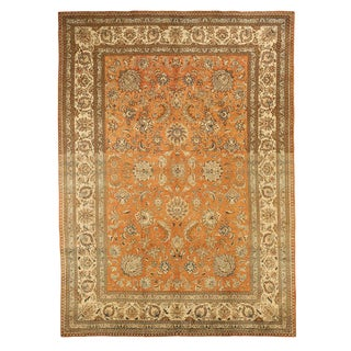 Antique Persian Tabriz Rug- 8′ × 11′3″ For Sale