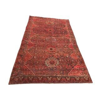 19th Palace Size Tribal Kamseh Rug 10' X 16' For Sale