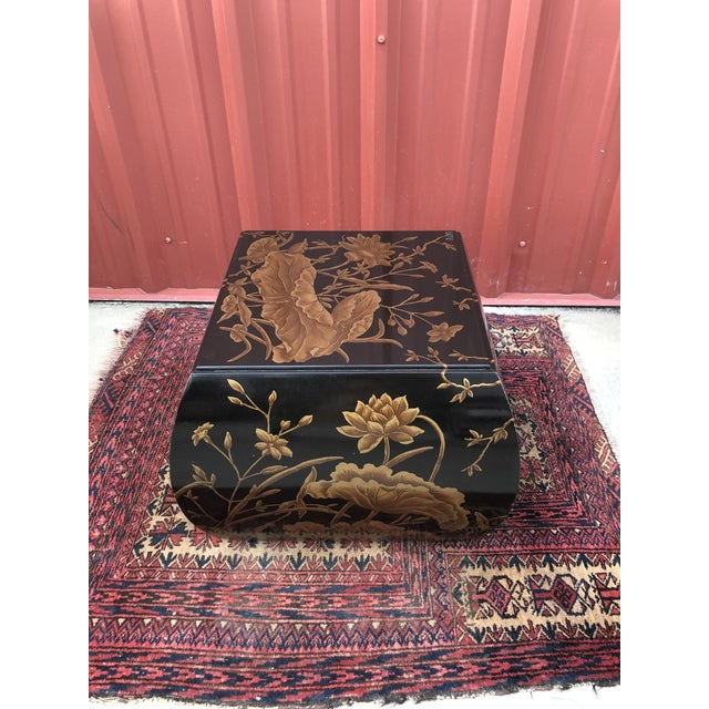 Drexel Heritage Chinoiserie Drexel Heritage Hand-Painted Side Table For Sale - Image 4 of 10
