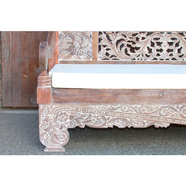 Brown Dee Opium Lime Washed Daybed For Sale - Image 8 of 9