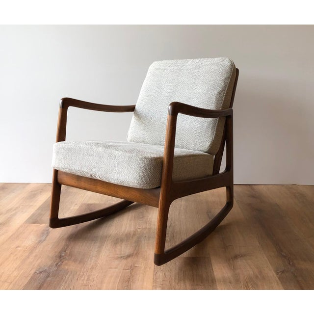 Newly-Upholstered MCM Rocker - Ole Wanscher for France & Daverkosen For Sale - Image 13 of 13