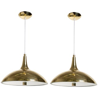 Pair of Paavo Tynell Style Brass Pendants For Sale