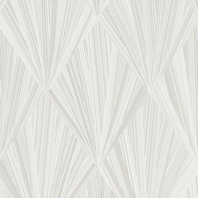 Contemporary Schumacher Marquetry Wallpaper in Whitewash For Sale - Image 3 of 3