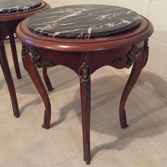 Antique French Side Tables - A Pair - Image 9 of 9