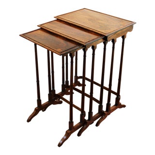 C. 1860s Colonial Rosewood Nesting Tables - Set of 3 For Sale