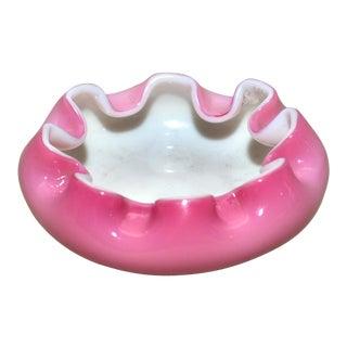 Vintage Murano Pink Cased Dish