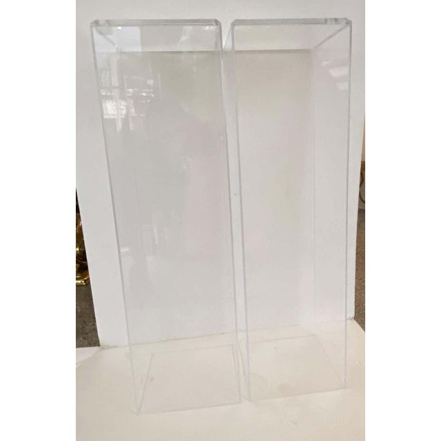 """This stylish set of Lucite pedestals are our own designs and these are the floor samples in 42"""" height. There is no bottom..."""