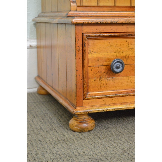 Drexel Heritage Pinehurst Collection Rustic 1 Drawer Side Table of Nightstand For Sale In Philadelphia - Image 6 of 13