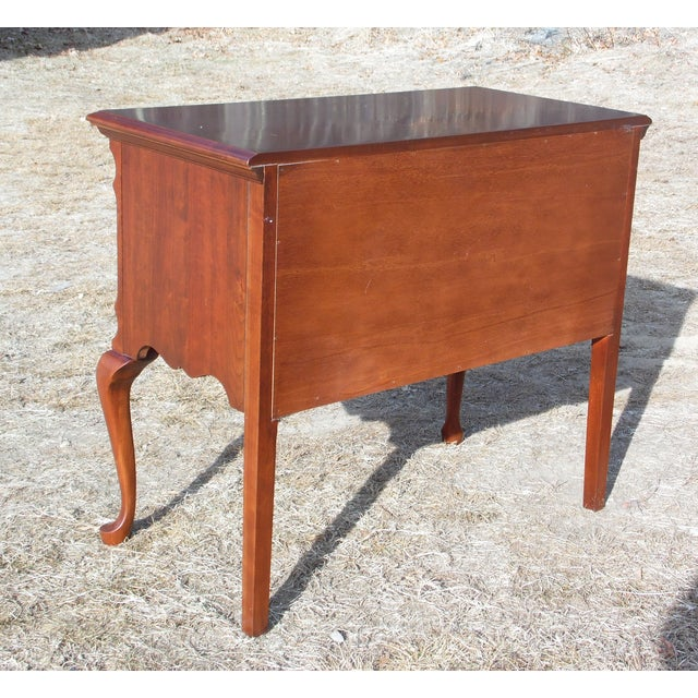 Vintage Pennsylvania House Solid Cherry Traditional Queen Anne Style Lowboy Chest For Sale - Image 12 of 13