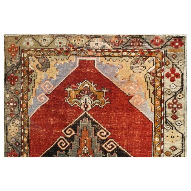 Islamic Vintage Turkish Oushak Rug - 3′2″ × 10′7″ For Sale - Image 3 of 4
