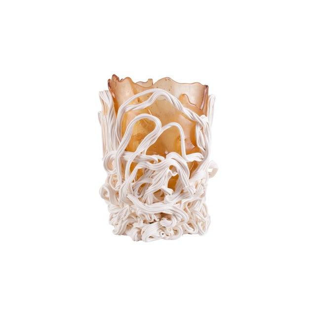 Modern Gaetano Pesce Orange & White Resin Vase For Sale - Image 3 of 9